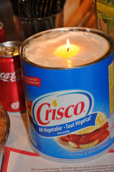 Candle Crisco Can